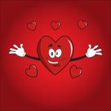 Herzvalentinsgrußkarikatur Stockbild