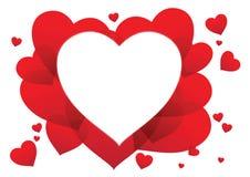 Herzvalentinsgrußkarte Lizenzfreies Stockbild