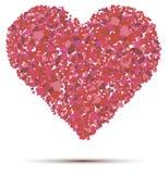 Herzvektor auf einem weißen Hintergrund Stockbilder