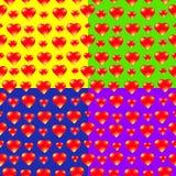 Herzvektorhintergrund Lizenzfreies Stockbild