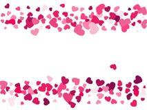 Herzvektormuster Liebes-Hintergrundillustration Hintergrund Lizenzfreie Stockfotografie