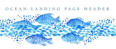 Hesder dos peixes Fotos de Stock Royalty Free