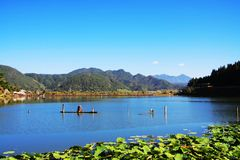 Heshun's lake Royalty Free Stock Images