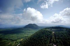 Heshun-Stadterloschener vulkan stockbild