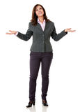 Hesitant business woman Royalty Free Stock Image