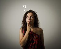 Hesitation. Question concept. Royalty Free Stock Images