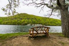 Heski jezioro w Niedźwiadkowej górze w Nowy Jork Upstate fotografia royalty free