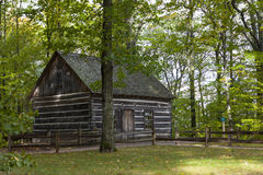 Hesler Log House. In Old Mission Penisula Michigan Royalty Free Stock Photo