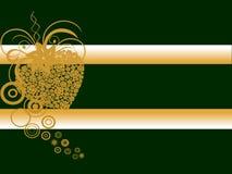 Hesrt dourado das rosas Imagem de Stock Royalty Free