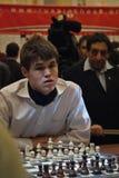 ?hess Grandmaster, Magnus Carlsen Foto de archivo libre de regalías