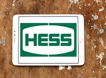 Hess Korporation logo royaltyfri bild