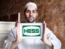 Hess Korporation logo royaltyfria foton