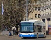 Hess-Oberleitungsbus in Zürich, die Schweiz Stockfotografie