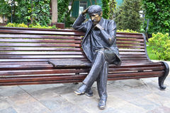 Сhess player. Sculpture of the man who plays chess Royalty Free Stock Photo