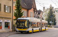 Hess SwissTrolley 3 trolleybus in Schaffhausen Stock Photo