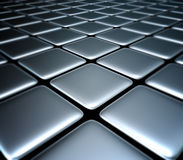 Сhessboard. 3d image Background of metal squares chessboard Royalty Free Stock Image