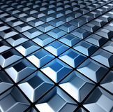 Сhessboard. 3d image Background of metal squares chessboard Royalty Free Stock Photo