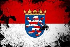 Hesse illustration rouillée et grunge d'Allemagne de drapeau illustration stock