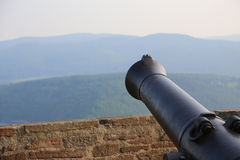 Hesse Mountains With Cannon Royalty Free Stock Photography