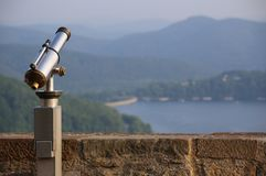 Hesse Mountains With Telescope Royalty Free Stock Images