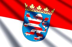 Hesse. Waving and closeup flag illustration. Perfect for background or texture purposes royalty free stock photography