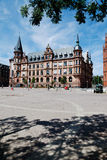 Hesse, Wiesbaden, vista del ayuntamiento con el cuadrado de ciudad Foto de archivo