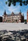 Hesse, Wiesbaden, vista del municipio con il quadrato di città Fotografia Stock