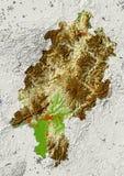 Hessen, Alemanha, mapa de relevo Ilustração do Vetor