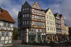Hessenpark jest na otwartym powietrzu muzeum w Hesse, Niemcy Połówka Zdjęcie Stock