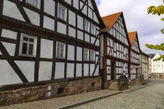 Hessenpark is an open-air museum in Hesse, Germany. Hessenpark - open-air museum, showcases ancient half-timbered buildings from the land of Hesse. Germany royalty free stock photos