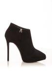 Hessian γυναικών μπότες που απομονώνονται σε ένα λευκό Στοκ Εικόνες