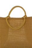 Hessian bag. Against a white background royalty free stock photo