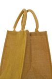 Hessian bag. Against a white background royalty free stock photography
