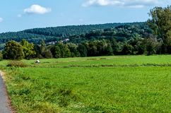 Hessian green landscape in the Spessart Mountains, Germany Stock Photos