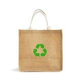 Hessian or jute shopping bag Stock Images