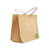 Hessian or jute shopping bag Royalty Free Stock Photo