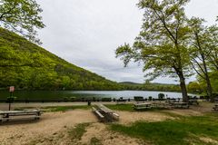 Hessian Lake in Bear Mountain in Upstate New York.  royalty free stock photos