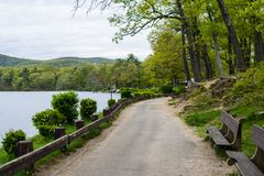 Hessian Lake in Bear Mountain in Upstate New York.  stock photography