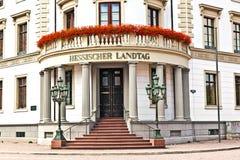 Hessischer Landtag em Wiesbaden Foto de Stock