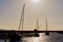 Free Heswall Boatyard Mooring And Slipway Sunset Stock Photos - 71803603