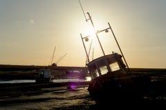 Free Heswall Boatyard Mooring And Slipway Sunset Stock Photography - 71804382
