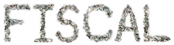 Fiscaal - Geplooide Rekeningen 100$ Stock Afbeelding