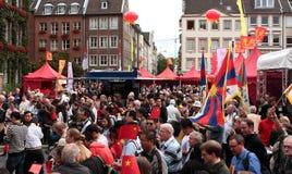 het 1st Festival van Düsseldorf China, \ Royalty-vrije Stock Fotografie