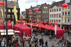 het 1st Festival van Düsseldorf China, Stock Foto's