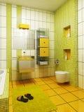 het 3d badkamers teruggeven Stock Afbeelding