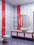 het 3d badkamers teruggeven Stock Afbeeldingen