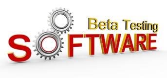 het 3d software bèta testen royalty-vrije illustratie