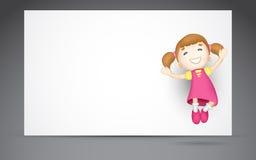 het 3d Springen van het Meisje Stock Foto's