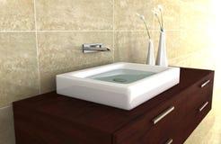 Het 3d teruggeven van de badkamers Vector Illustratie