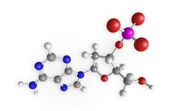 Het 3D teruggeven van de molecule Stock Afbeelding